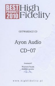Ayon-CD-07_BestProduct2010_HF